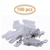 100x Terminales Faston Macho 4,8mm (22-16) Funda Transparente