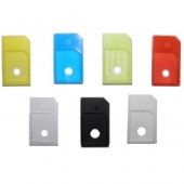 4x Adaptador MICRO SIM A SIM IPHONE 4 4S IPAD Color AZUL