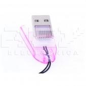 Adaptador Lector Tarjeta MICRO SD a USB Portátil Color ROSA