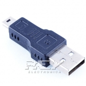 Adaptador USB Macho a MINI USB Macho