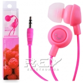 Auriculares Fruit Smiles iPhone 5S, 3.5mm Frutas Fucsia