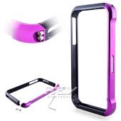Bumper Aluminio Vapor 4, iPhone 4 / 4S Fucsia y Negro