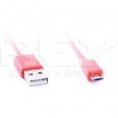 Cable MICRO USB USB ROJO Samsung LG BlackBerry Motorol