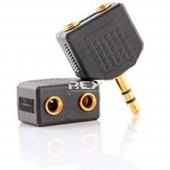 Adaptador Estéreo Mini Jack (2,5 mm) Macho a Doble Jack (3,5 mm)