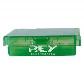 Caja Almacenado Blister Plástico Estuche Verde para Pilas AA