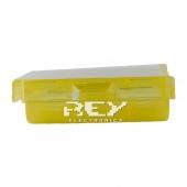 Caja Almacenado Blister Plástico Estuche Amarillo para Pilas AA
