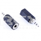 Adaptador Convertidor MINI JACK 2.5mm MACHO a 3.5mm HEMBRA