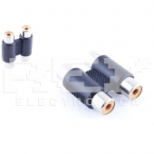 Adaptador DOBLE RCA HEMBRA