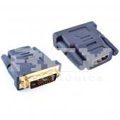 Adaptador HDMI Hembra DVI Macho 24+1 Conector Conversor Xbox