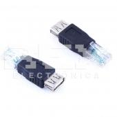 Adaptador LAN RJ45 Macho a USB Hembra Conversor Convertidor
