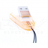 Adaptador Lector Tarjeta MICRO SD a USB Portátil AMARILLO