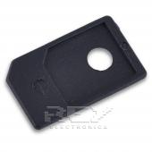 4x Adaptador MICRO SIM A SIM IPHONE 4 4S IPAD Color NEGRO