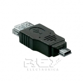 Adaptador Mini USB Macho a USB Hembra