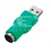 Adaptador USB Macho a PS2 Hembra CONVERSOR Adapter