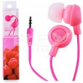 Auriculares Fruit Smiles iPhone 5, 3.5mm Frutas Fucsia