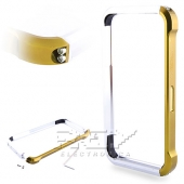 Bumper Aluminio Vapor 4, iPhone 4 / 4S Dorado y Plata