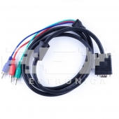 Cable Adaptador VGA a 3RCA RGB 1.5m Audio, Video Stereo