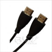 Cable HDMI 2mt Oro Ethernet v 1.4 Full HD Xbox PS3 DVD