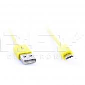 Cable MICRO USB USB AMARILLO, Samsung LG BlackBerry Motorol