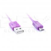 Cable MICRO USB USB LILA Samsung LG BlackBerry Motorol