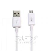 Cable MICRO USB a USB Blanco Samsung LG BlackBerry Motorol