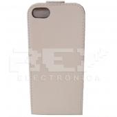 Funda Carcasa iPhone 5 5G Piel Cuero Blanco