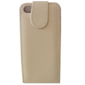 Funda Carcasa iPhone 5 5G Piel Polipiel Blanco