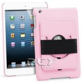 Funda PIEL iPad 2 3 4 10.1 con Soporte Rotatorio Color ROSA
