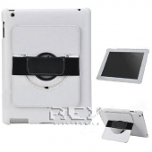 Funda Piel iPad 2 3 4 10.1 Soporte Rotatorio Color BLANCO