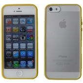 Funda iPhone 5 Carcasa Tamizado Amarillo