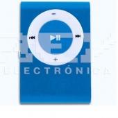 Mini Reproductor MP3 CLIP AZUL admite hasta 8GB Micro SD