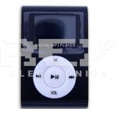Reproductor MP3 CLIP Pantalla LCD radio FM NEGRO