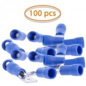 100x Terminales Faston Macho 6,3mm (16-14) Aislante Color Azul
