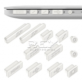 "12x Tapa-Polvo para APPLE MACBOOK PRO 13"" 15"" RETINA Blanco"