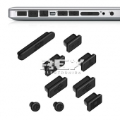 "9x Tapa-Polvo para APPLE MACBOOK PRO 13"" 15"" (SIN RETINA) Negro"