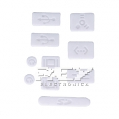 "9x Tapa-Polvo para APPLE MACBOOK PRO 13"" 15"" (SIN RETINA) Blanco"