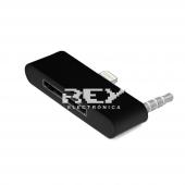 Adaptador 30 Pin a Conector Lightning con Audio iphone 6 negro