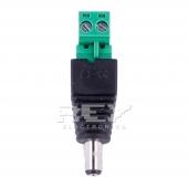 Adaptador Conector de led CCTV JACK DC MACHO HEMBRA 5,5mm