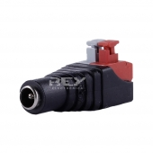 Adaptador Conector de led CCTV JACK DC hembra 5,5 mm a Enchufe R