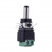 Adaptador Conector Rapido de led CCTV JACK DC MACHO HEMBRA 5,5mm