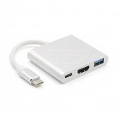 Adaptador OTG Multipuerto Tipo C, HDMI, USB Hembra a Tipo C