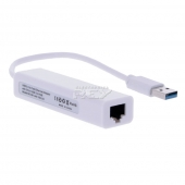 Adaptador USB 3.0 Macho a Red Ethernet RJ45 Tarjeta Red 10/100Mb