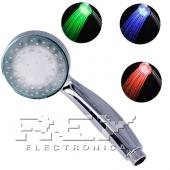 Alcachofa Ducha Mano Luz LED 3 Colores Temperatura Baño