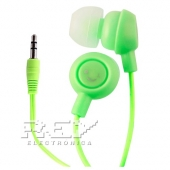 Auriculares Fruit Smiles iPhone 4, 4S, 3.5mm Frutas Verde