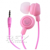 Auriculares Fruit Smiles iPhone 4,4S, 3.5mm Frutas Rosa