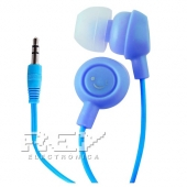 Auriculares Fruit Smiles Mp3 Mp4 3.5mm Frutas Sonrisas Azul
