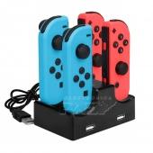 Base de Carga Dock para 4 Mandos Joy-Con de Nintendo Switch