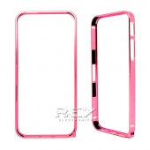 Bumper para iPhone 5 0.7mm Carcasa Aluminio Funda Rosa
