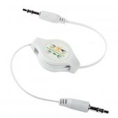 Cable Audio Mini Jack Mini Jack 3.5mm Retráctil Auriculares