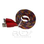Cable USB a Micro USB Cordón Nylón Trenzado Azul Multicolor